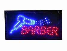Hairdresser Barber Salon Hair Cut Led Flashing Shop Sign Signs Window