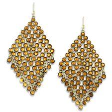 NEW Crystal Rhombus Mesh Fringe Drop Dangle Statement Earrings Prom Many Colors