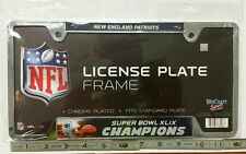 New England Patriots Licence Plate Frame Super bowl 49 XLIX Chrome Plated Brady