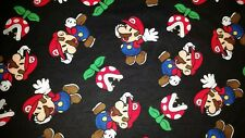 PERSONALIZE - NINTENDO SUPER MARIO VIDEO GAME FLANNEL FLEECE THROW BLANKET 50X42