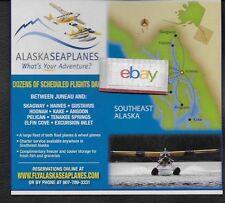 ALASKA SEAPLANES AIRLINES BEAVER ON FLOATS & CARAVAN JUNEAU HUB ROUTE MAP AD
