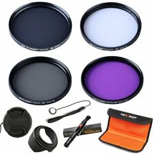 58MM UV CPL ND4 FLD Filter Kit + Cleaning Pen for Canon Rebel Camera K&F Concept
