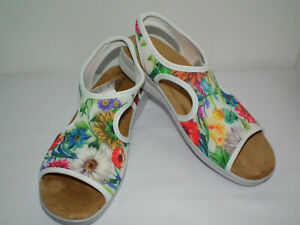 Flexus by Spring Step Womens WHITE Nyaman-Bouquet Size 9 (US) Sandals NWT