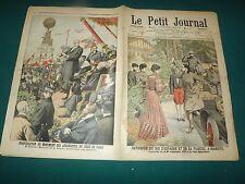 LE PETIT JOURNAL 1906 N°795 entrevue du roi d'espagne ,inauguration des    S175