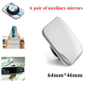 1PCS Of Car Rearview Frameless Blind Spot Auxiliary Glass Rear Assist Mirrors
