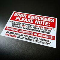 Attention Door Knockers - Sticker