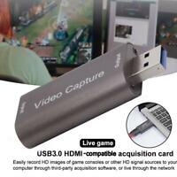 HDMI to USB 3.0 Audio Video Capture Card Game Recording & Streaming Live Q7Z4