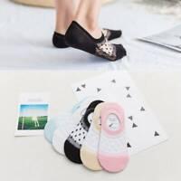 Silicone non-slip summer invisible women's socks cotton glass stockings //