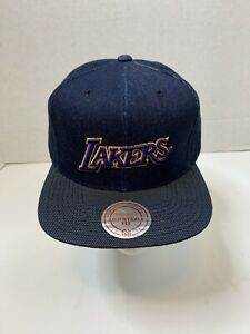 Los Angeles Lakers Mitchell & Ness NBA Denim Snap Back Hat