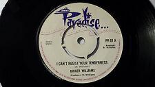 "Ginger Williams -I Can't Resist You Tenderness /Reggae 45"" on Paradise UK Label"