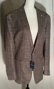 NWT Peter Millar Loro Piana Windowpane Linen Tweed Jacket Coat MS18RJ07 40R $898