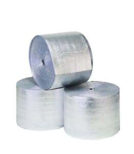 "Reflective Foam Insulated Aluminum Foil Spiral Pipe Wrap Roll 6"" x 25' R-8.0 1/4"