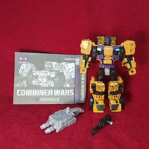 Transformers Generations Combiner Wars SWINDLE Deluxe figure -Bruticus- Complete