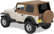 1988-1995 Jeep Wrangler Replacement Soft Top w/ Upper Door & Tinted Window Spice