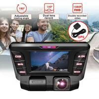 HD 720P Dual Car Truck Taxi Dash Camera Black Box Recorder GPS Google Maps