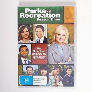 Parks & Recreation Season 3 DVD Region 4 AUS TV Series Free Postage - Comedy