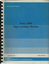 Be Broadcast Electronics Series 3000 Tape Cart Owners Instruction 1981