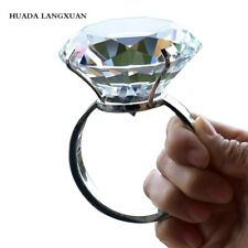 Wedding Decoration 8cm Crystal Glass Large Diamond Ring Romantic Proposal GIFTS