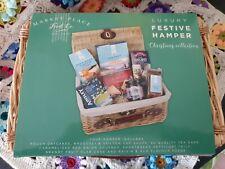 Luxury Festive Hamper In Wicker Picnic Basket 36x24x16.5
