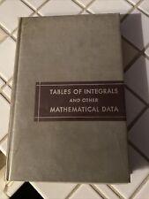 Tables of Integrals & Other Mathematical Data Herbert Dwight 3rd 1957