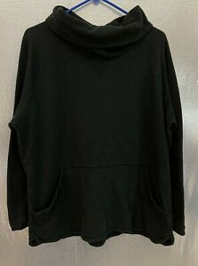 Columbia Plus Sz 2X Black Long Sleeve Cowl Neck Pullover Fleece Sweatshirt