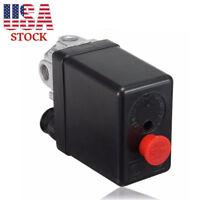 Four Port Manifold Air Compressor Pressure Switch Single Phase 240V 175PSI Black
