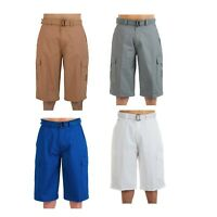 Men Big and Tall BTL Cargo Shorts With Belt Twill Multi Pockets Size 30 - 50
