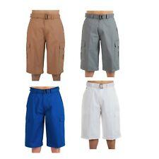 Men Big and Tall BTL Cargo Shorts With Belt Twill Multi Pockets Size 30 - 50