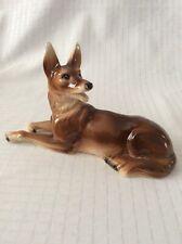Vintage Sitzendorf Porcelain Shepherd Dog ~ Porzellan Schäferhund / Hund - 23cm