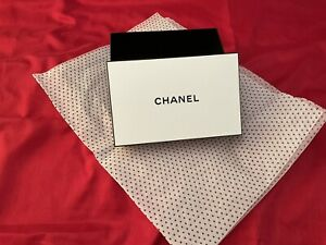 Chanel Gift Box With Tissue Black & White