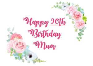 Cake edible icing sheet Cake topper Mum, Nan, Nanna Grandma Age 60 70 A4 Sheet