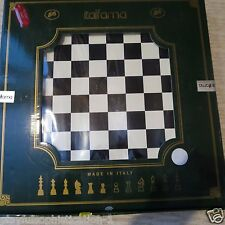ITALFAMA BRASS CLASSIC METAL GOLD SILVER STAUNTON CHESSMEN AND BOARD SET