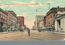 USA - Main Street West From Portage Street Kalamazoo Michigan Posted 01.80