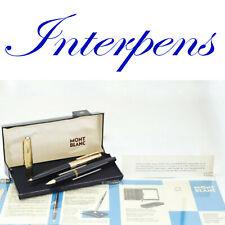 Montblanc 124 184 Set Fountain Pen 18K B Nib Lever Ballpoint Advertising Box