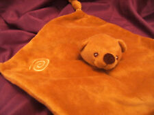 Anna Club Plush TEDDY BEAR LIGHT BROWN/ BEIGE  Soft Comfort Blanket/Comforter 9""