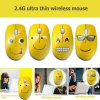 Cartoon 2.4GHz Wireless Mouse Mute 1000DPI USB Optical Silent Mice for Laptop PC