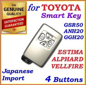 FOR TOYOTA ESTIMA / ALPHARD / VELLFIRE REMOTE SMART KEY 4 BUTTONS
