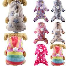 New listing Small Dog Cat Pajamas Winter Warm Clothes Hoodie Coat Pet Puppy Hooded Jumpers