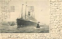 Holland American Line 1907 TSS New Amsterdam Postcard undivided 2675