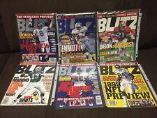1995-99 Original BLITZ MAGAZINE 6 PACK INCLUDING 1ST EDITION NFL/NCAA RARE