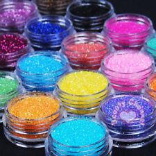24 Pots Metal Shiny Fine Glitter Nail Art Tips Acrylic UV Powder Polish Deco Kit