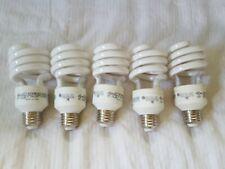 Lot of 5 GE 26W 100 watt replacement CFL Spiral Daylight 6500K light bulbs