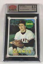 1969 Topps Baseball #41 Bob Barton (Giants) SCD 8.5 NM/MT+ LB5 Not PSA