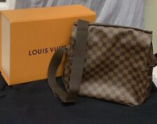 Authentic Louis Vuitton Damier Ebene Naviglio Messenger Shoulder Bag Cross Body