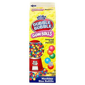 454g Dubble Bubble Gumball Machine Refill Box Carton, Ideal Xmas Gift Present