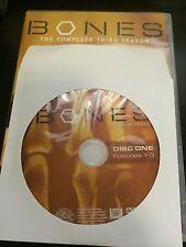 Bones - Season 3, Disc 1 REPLACEMENT DISC (not full season)