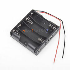 5PCS Plastic Battery Storage Case Box Holder For 4 X AA 4xAA 2A 6.0V  wire leads