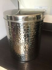 Bread Bin, in Stainless Steele in Good Condition. Pre Owned.