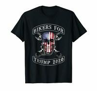 Black Bikers For Trump In 2020 T Shirt Men's S-6XL  US 100% Cotton