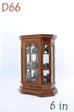 Small Vintage Cabinet Teak Wood Thai Carved Handmade Craft Cupboard FurnitureD66